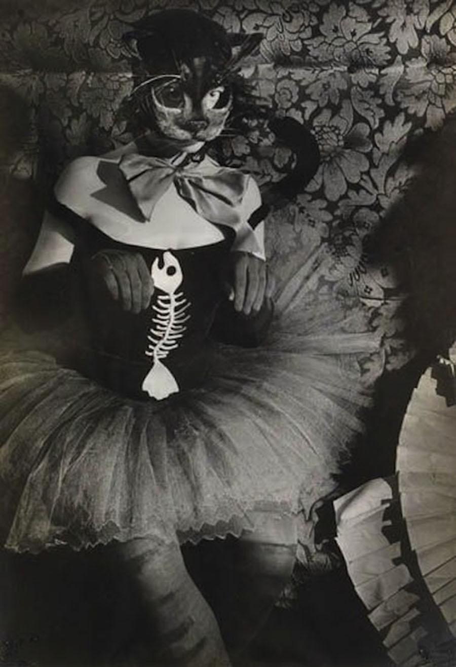 Brassaï- . Woman with Cat Mask, 1930