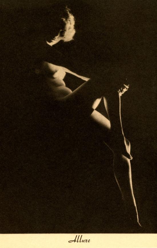 "Earl Moran- ""Allure"", model Zoe Mozert from  the Brown and Bigelow Calendar Company of St. Paul, Minnesota,  for December 1936"