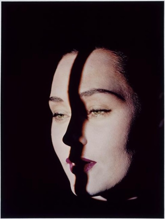 Edwin Blumenfeld - Line on face, New York, ca. 1947-1949_e
