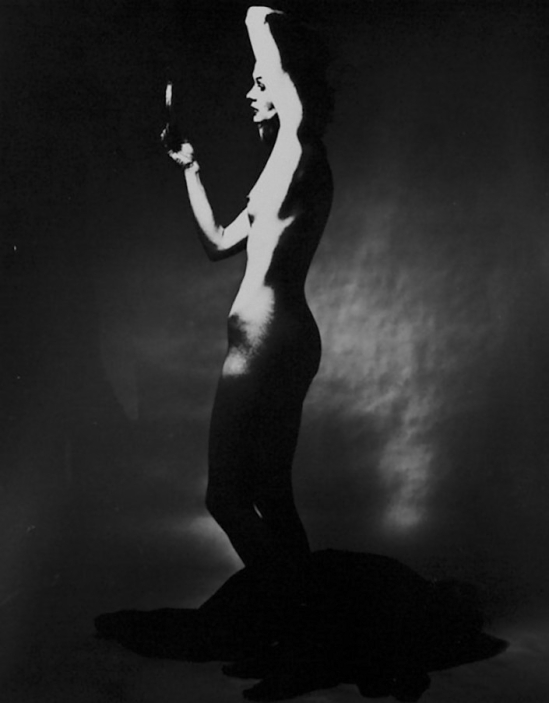 Edwin Blumenfeld -Nude Outline  1963