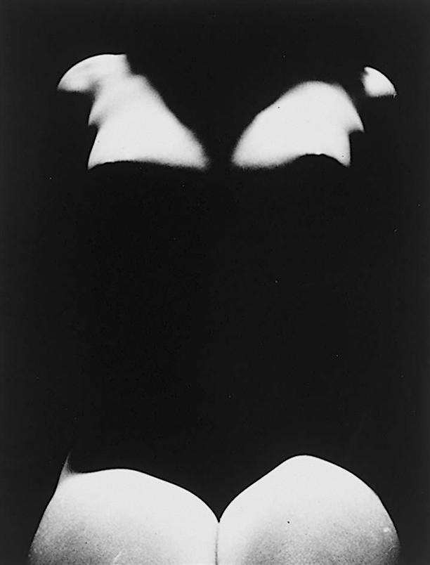 Edwin Blumenfeld -Nude With Shadows, 1950