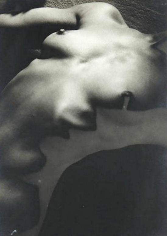 Edwin Blumenfeld -Solarized Nude ,  1950