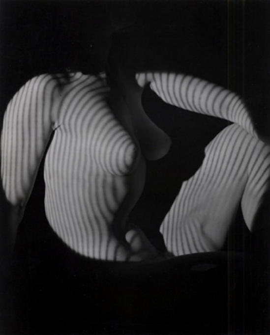 Edwin Blumenfeld -Striped Nude, 1950
