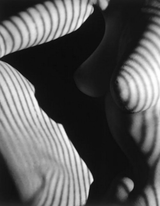 Edwin Blumenfeld -Striped Nude   détail, 1950