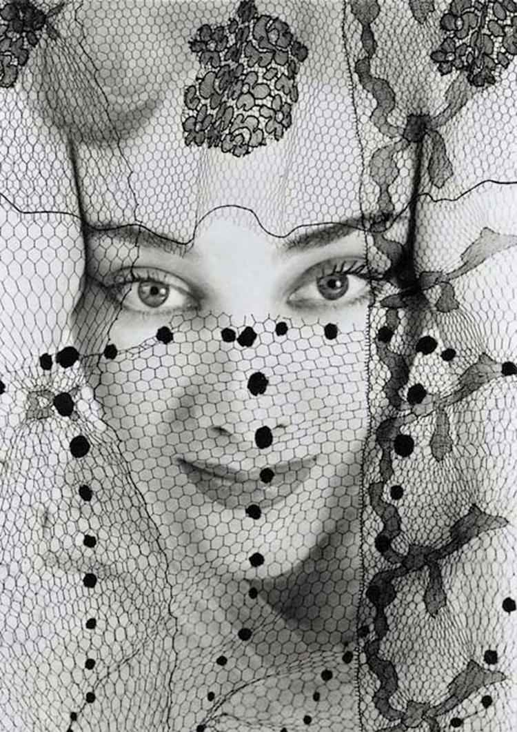 Erwin Blumenfeld - veiled portrait ,195os