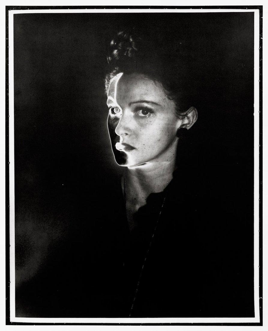 Erwin Blumenfeld- Female Portrait, Solarized - ( Manina). 1943