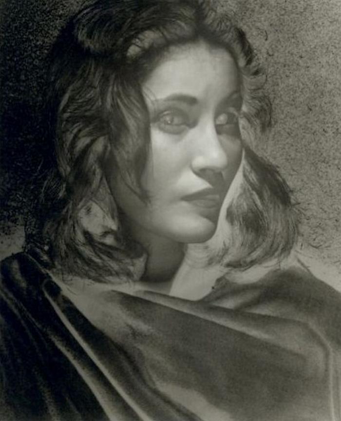 Erwin Blumenfeld - Solarized Portrait of a Woman, 1944.