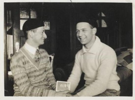 Erwin Blumenfield- double portrait  Erwin Blumenfeld  et paul Citoenn, 1926, ( museé amsterdam)
