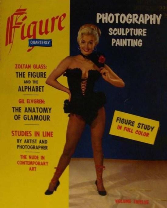 Figure trimestriel Elvgren Zoltan verre Pinup Photographie Photo Magazine 1956
