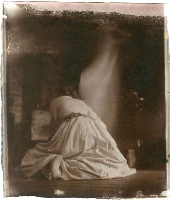 """Hal Hirshorn- The Merchant's House Series, 2009 (Hirshorn uses 19th-century techniques, including Henry Fox Talbot's salt printing process, invented in 1834), This salt print is from Hirshorn's series shown in """"Tending the Fires."""" It was takenin in the kitchen of the Merchant's House Museum.)"""