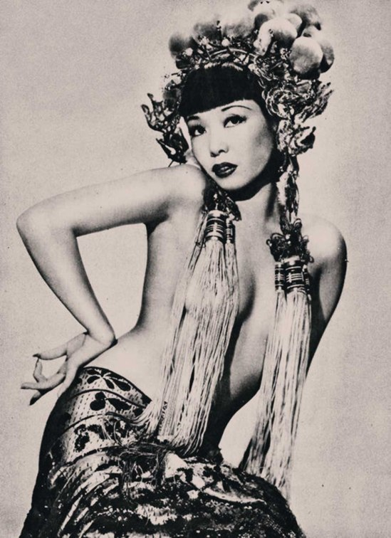 Jadin Wong,Burlesque dancer 1945