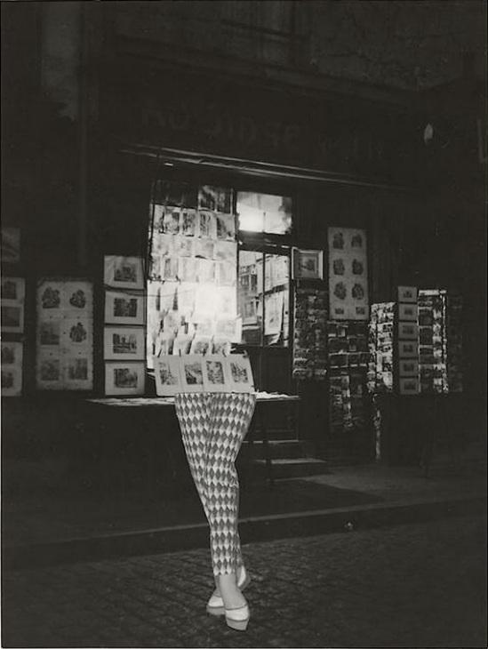 Marcel Bovis- photomontage Devanture magasin de gravures, jambes ,1970s