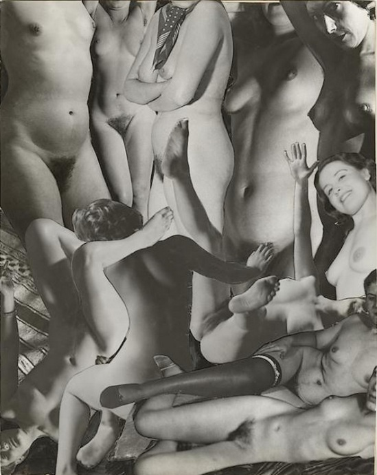 Marcel Bovis- photomontage Entremêlement de nus féminins vers 1950