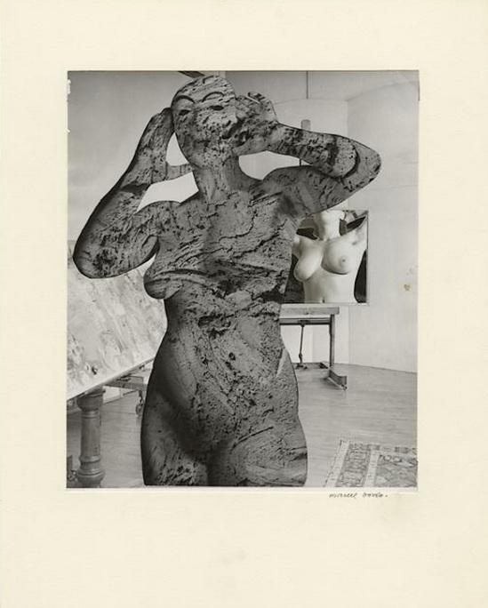 Marcel Bovis- photomontage Le modèle et son double 1976