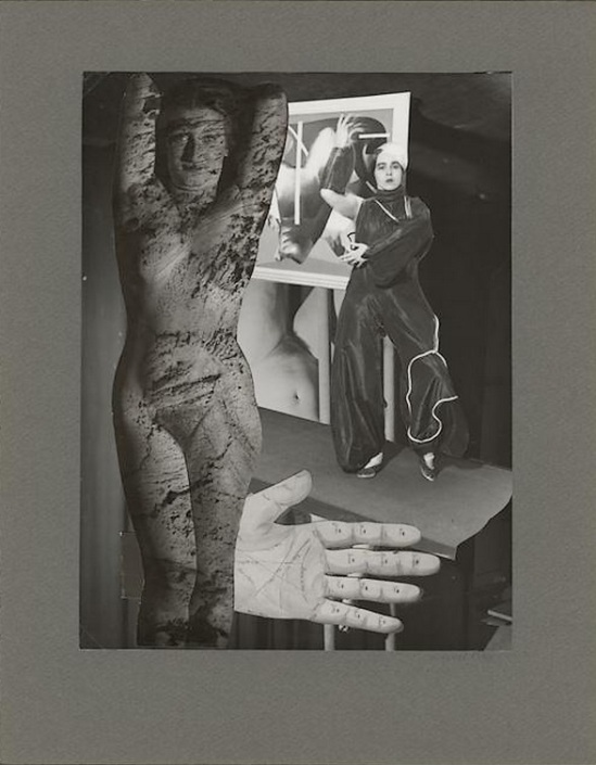 Marcel Bovis- photomontage Les mains de ma soeur , nd