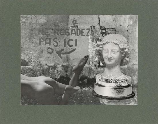 Marcel Bovis- photomontage Ne regardez pas ici 1975-80