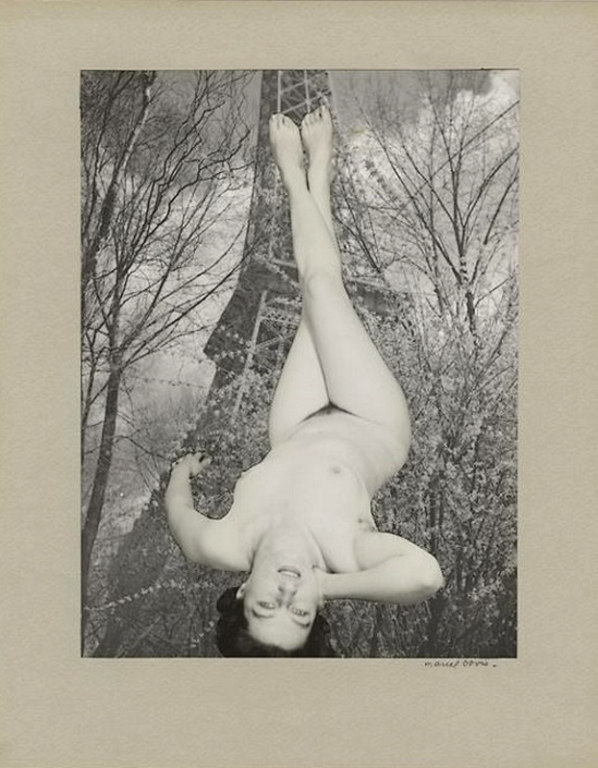 Marcel Bovis- photomontage Tout le monde en l'air , nd