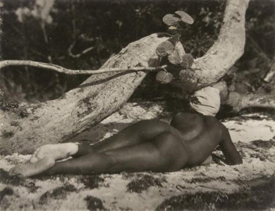 Nell Dorr-Nude on beach, back view], ca. 1929