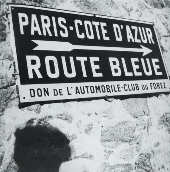 Blanc et Demilly-Panneau directionnel, vers 1935