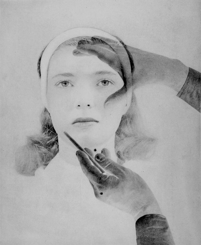Rolf Tietgens - Make-up (double print positive-negative), 1950s