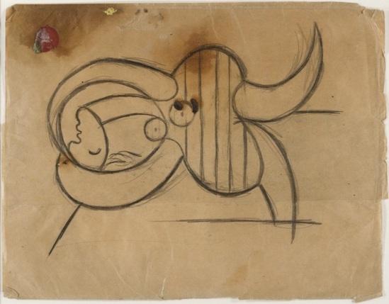 Pablo Picasso- Femme en costume de bain, 1931-1932