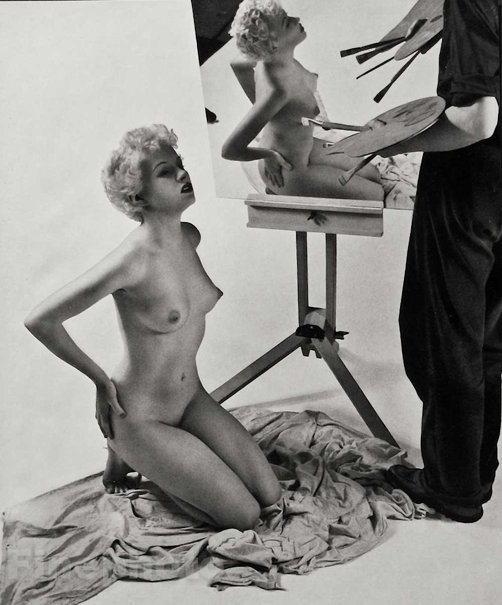 Zoltan Verre étude de nu, le modèle, 1950