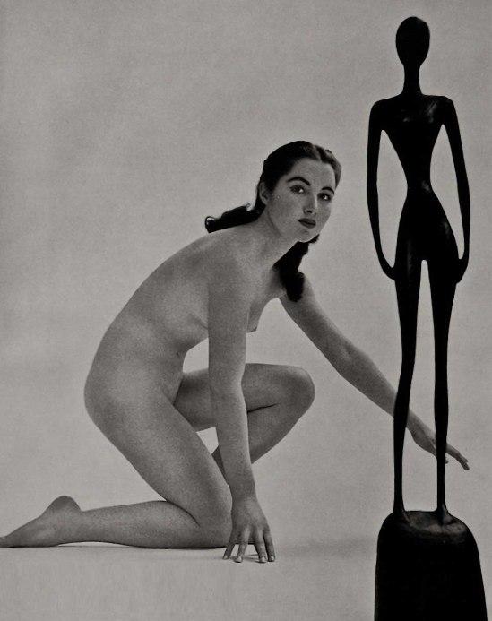 Zoltan Verre étude de nu avec la sculpture, 1950