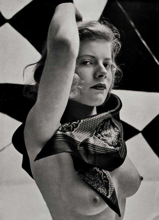 Zoltán Verre Femme étude nue., 1950.