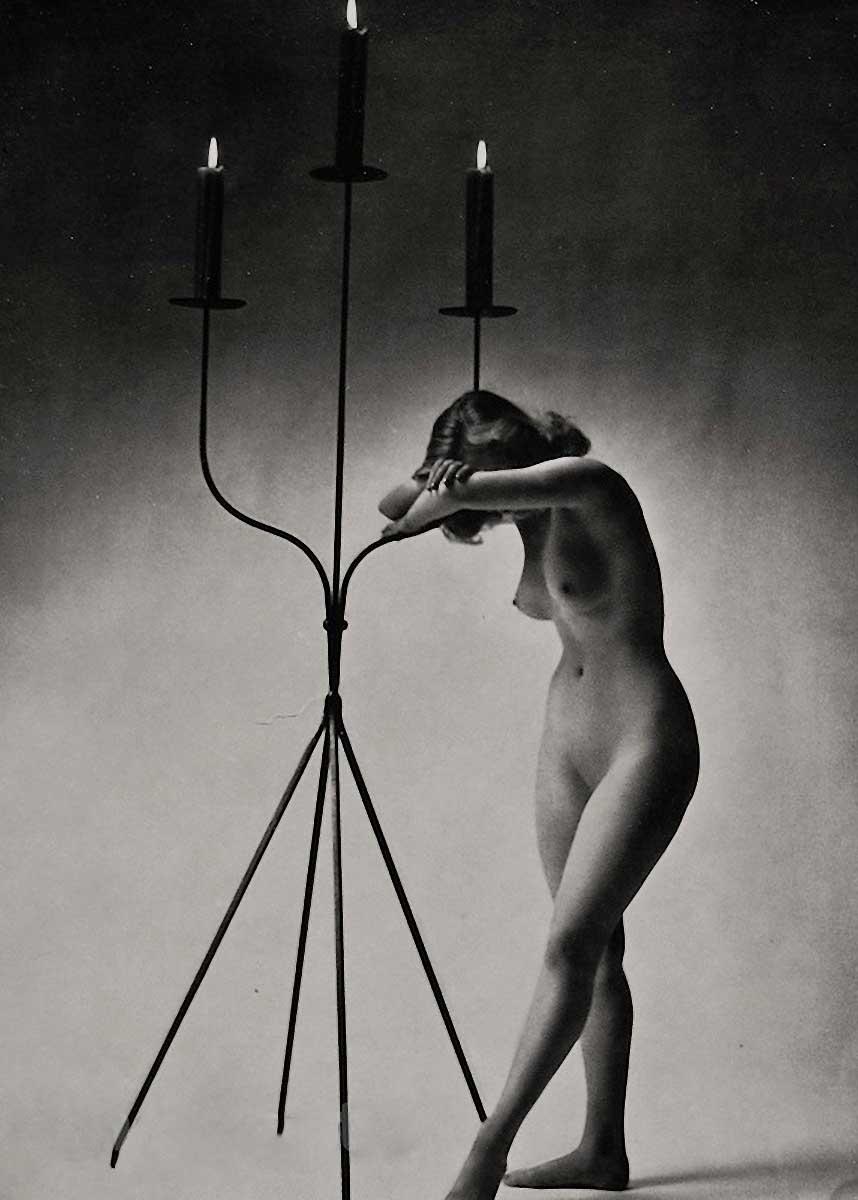 Zoltán verre Femme étude nue avec Candel, 1955-1960