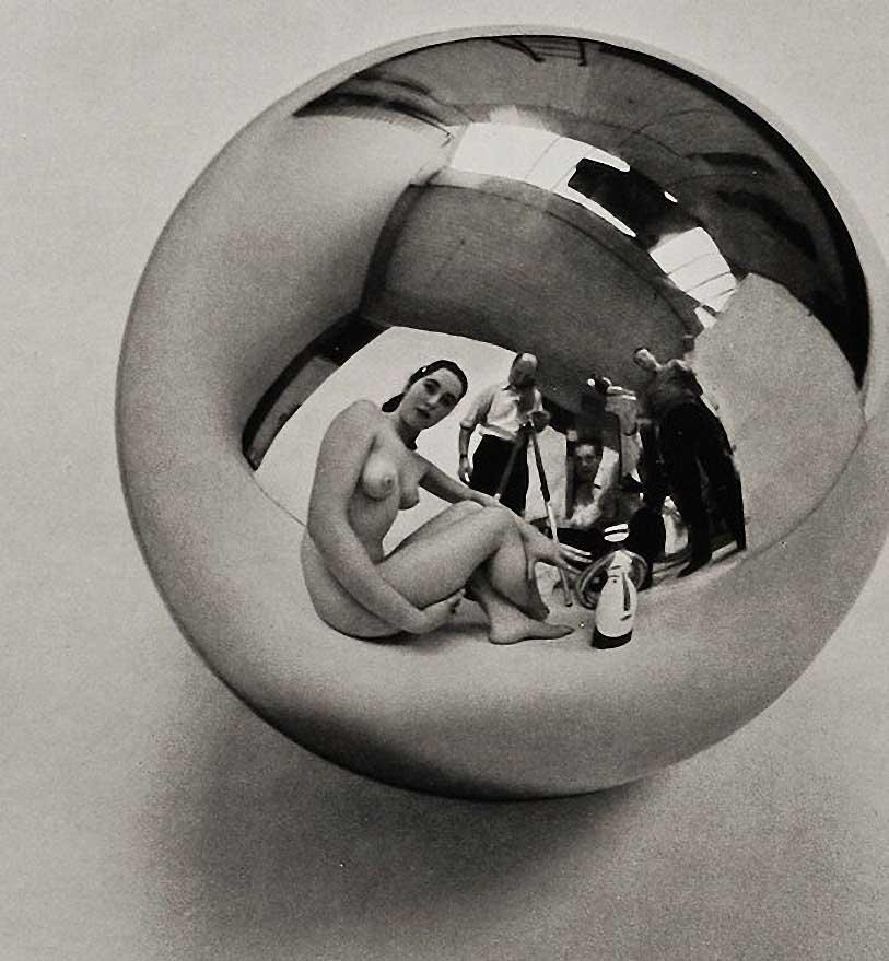 Mirror Ball Zoltán verre Afficher Reflection'1959