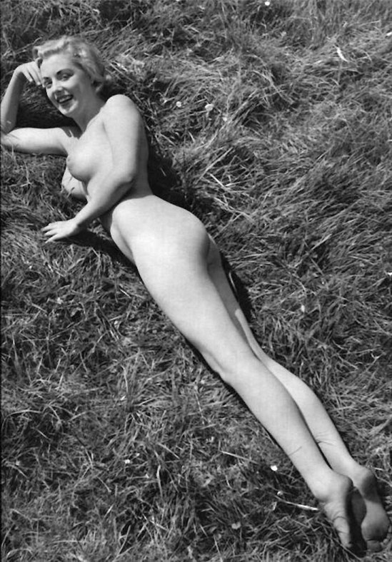 Zoltán Verre Nu dans l'herbe, 1950