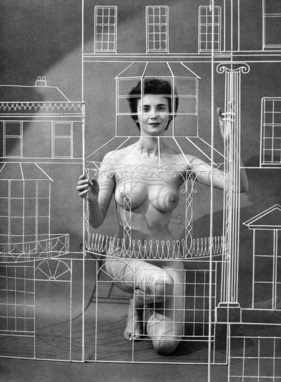 Agenouillée Zoltán Glass-Nu 1955