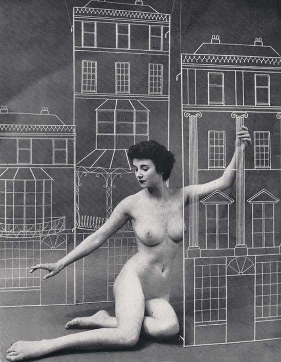 Agenouillée Zoltán Glass-Nu, de sutdy Nu, à partir des études Modèle annuel, Issue # 15 1955