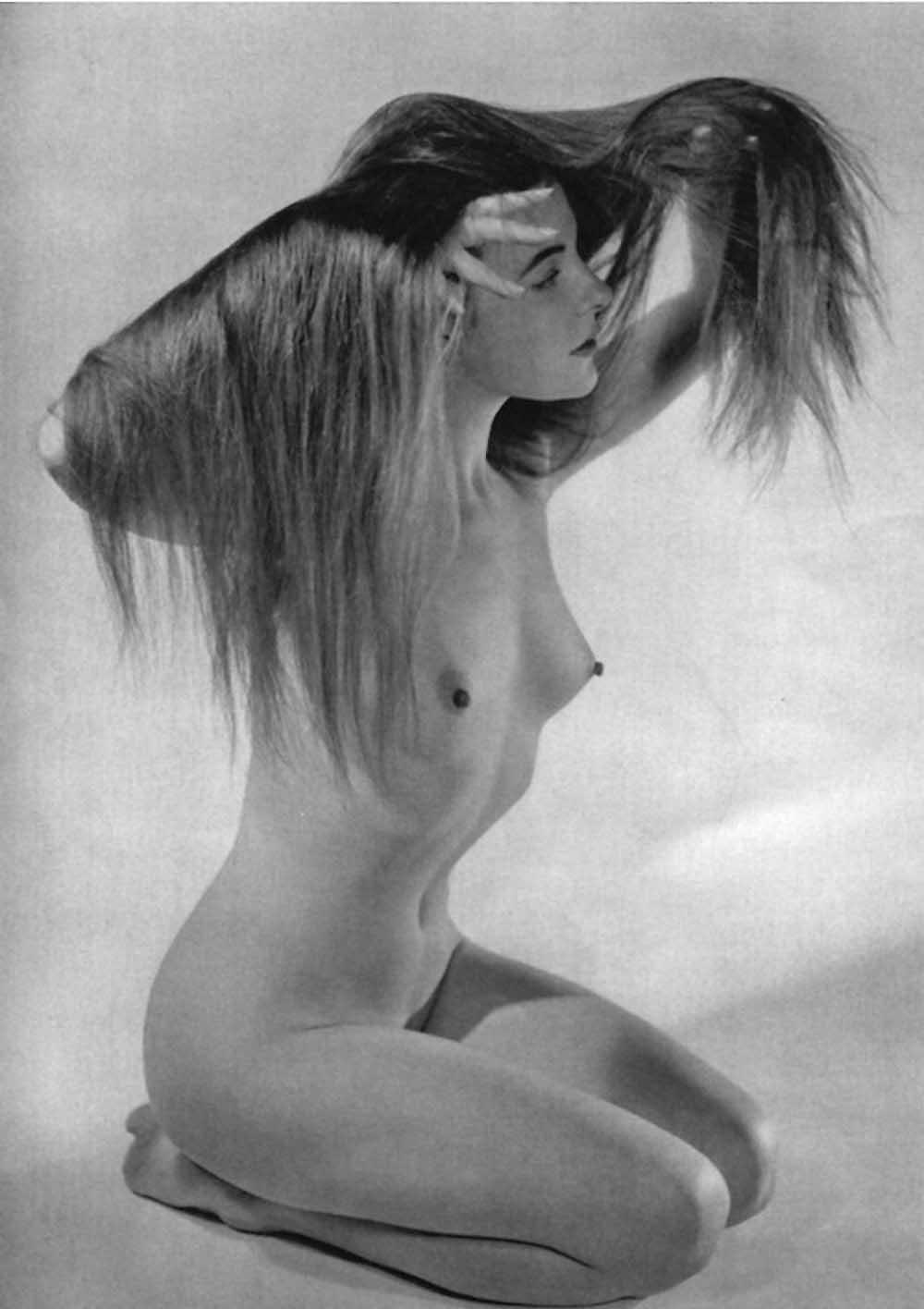 Zoltán Verre Nu cheveux longs, 1950