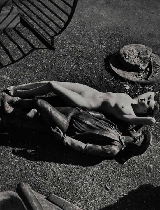 Étude Zoltán Glass-nue avec la sculpture, 1955-1960