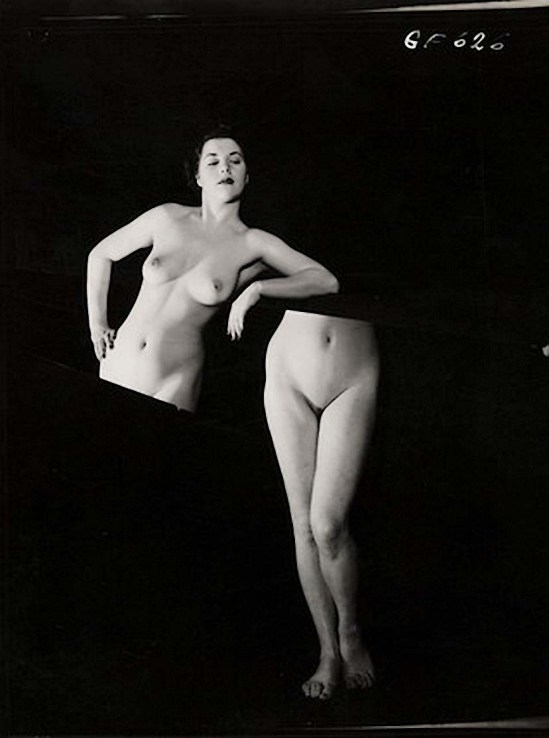 Zoltán Verre étude Nu, la femme coupée en deux, 1965.