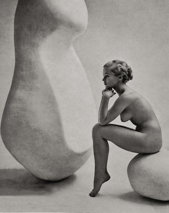 Zoltán Verre étude Nu, la femme avec des formes géométriques, 1955-1960