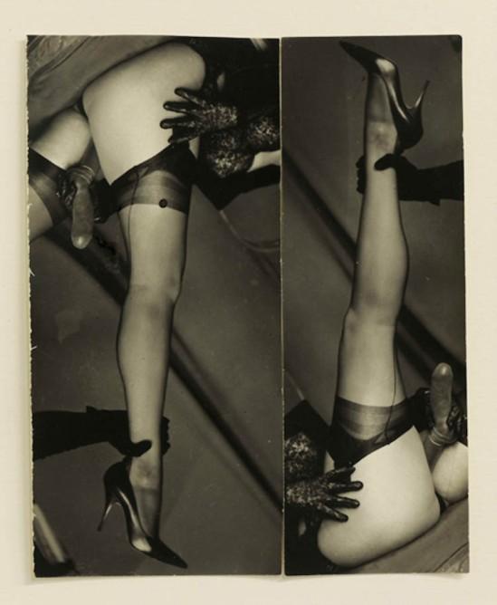 © Pierre Molinier- Introit-Collage préparatoire inédit (n°1) pour le photomontage Introït, planche 2 de l'album Le Chaman et ses créatures