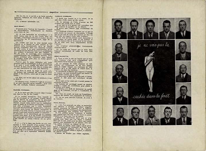 Enquête sur l'amour, La Révolution surréaliste, n°12, 15 décembre 1929
