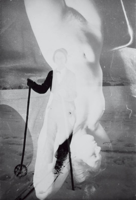 © Franz Roh- Untitled Skier & Nude, 1925