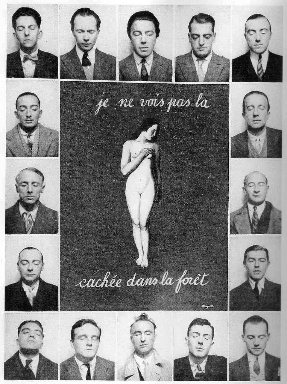 je ne vois pas La Femme Cachée dans la foret. 1929