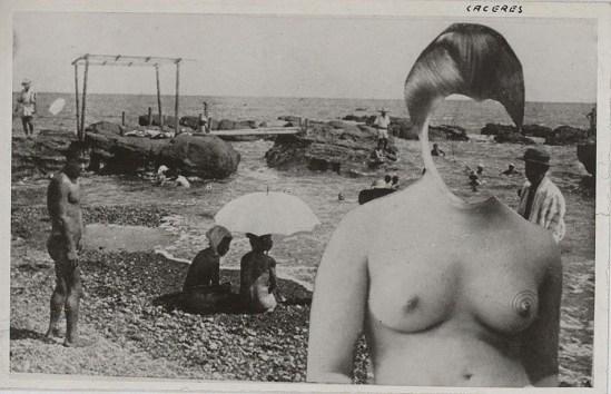 Jorge Caceres-EL azar Colectivo photomontage, ND ( 1940-45)  ,(source André Breton)