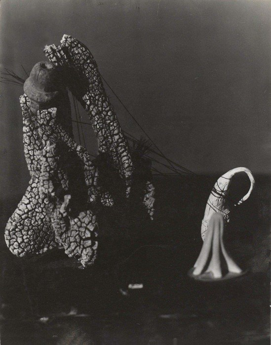 orge Caceres - La muerte de Nicole photomontageJ vers 1940  (source André Breton & Mandragora)