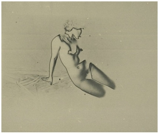 Osamu Shiihara - nude ( solarisation), vers 1930