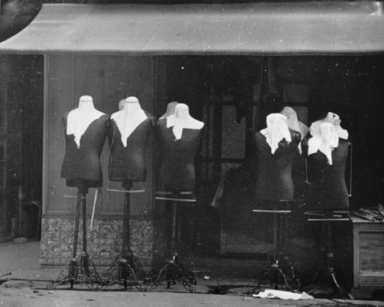 Osamu Shiihara-Title Unknown [Mannequins by the Roadside]]   n.d.
