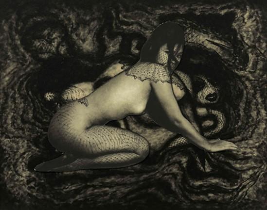 Pierre Molinier- collage d'Emmanuelle, planche 49 du Chaman et ses créatures, 1965-1968