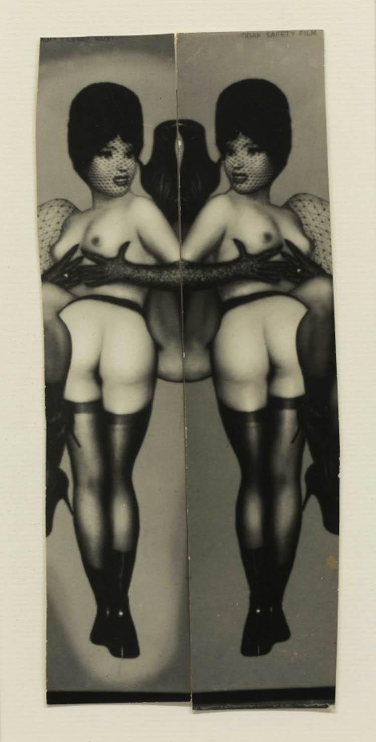 Pierre Molinier- Collage inédit (réutilisant deux images du Stylite), planche 14 du Chaman et ses créatures, 1965-1968