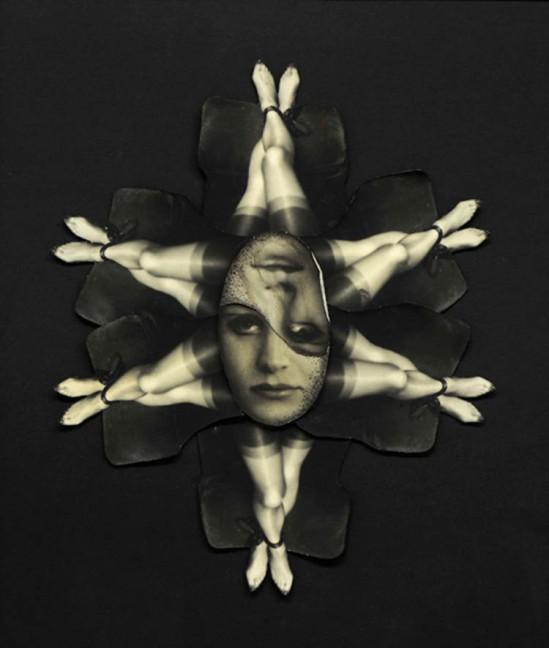Pierre Molinier- Collage L'étoile de six, planche 43 Le Chaman et ses créatures 1965-1968
