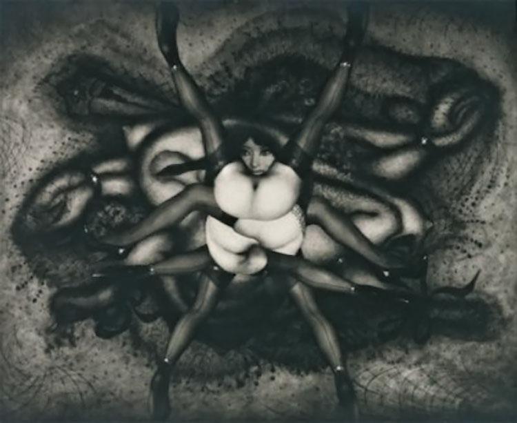 Pierre Molinier-La Victoire , planche 24 Photomontage pour le chaman et ses créatures 1966-68