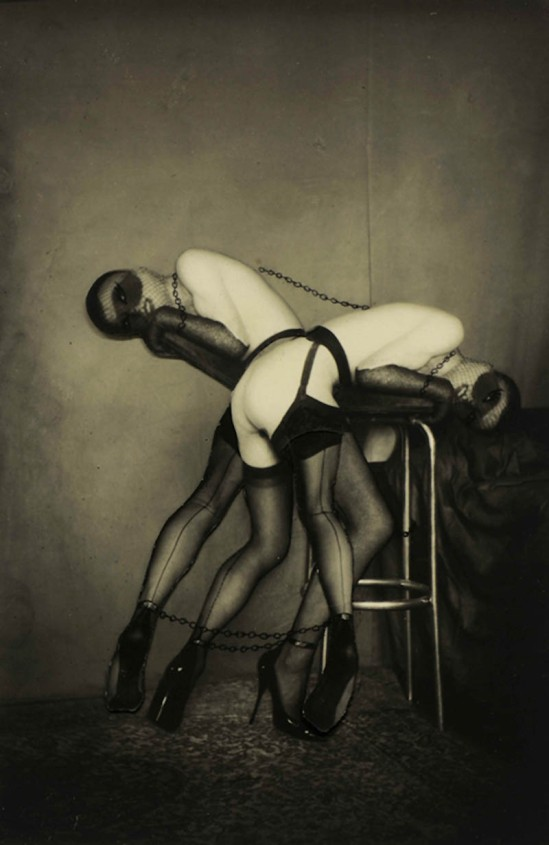 Pierre Molinier- Pantomine céleste ,Collage, planche 19 , Chaman et ses créatures, 1965-1968